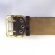 Ремень поясной с латунной проволочной пряжкой (подшив натуральной кожей)